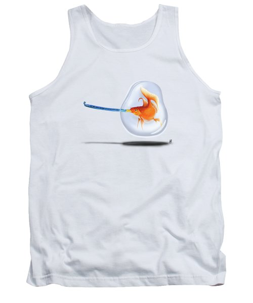 Popper Colour Tank Top by Rob Snow