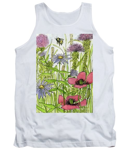 Poppies And Wildflowers Tank Top
