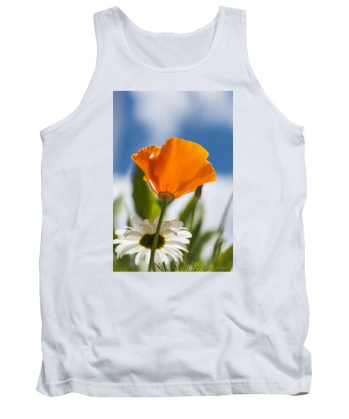 Poppy And Daisies Tank Top