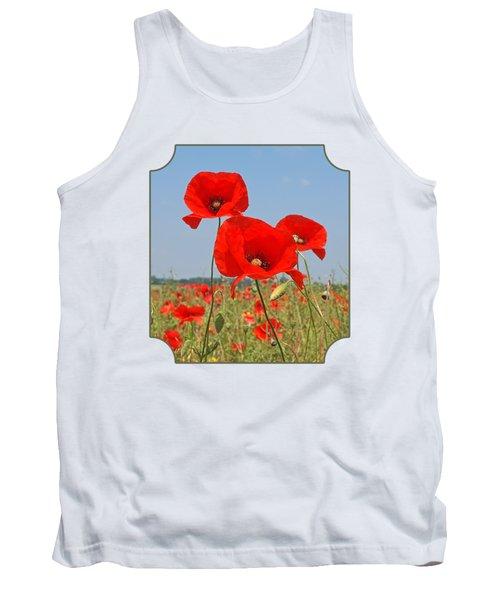 Poppy Fields 4 Tank Top