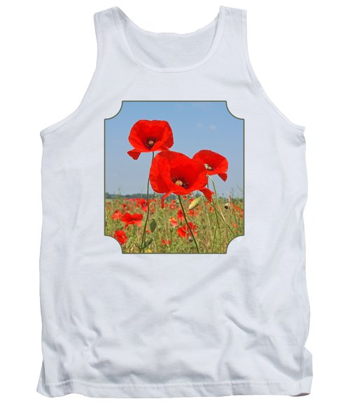 Poppy Fields 4 Tank Top