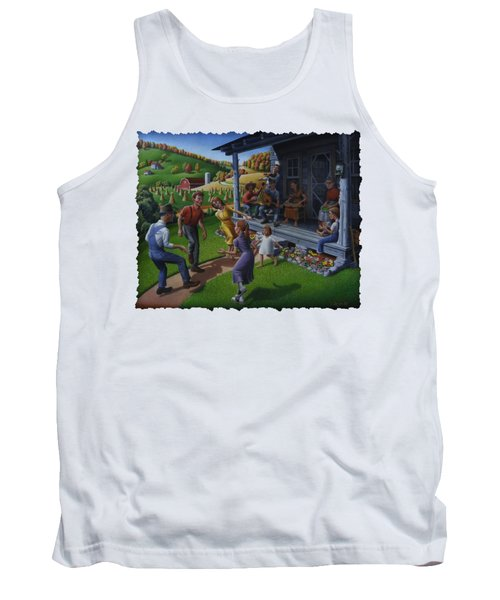 Porch Music And Flatfoot Dancing - Mountain Music - Appalachian Traditions - Appalachia Farm Tank Top