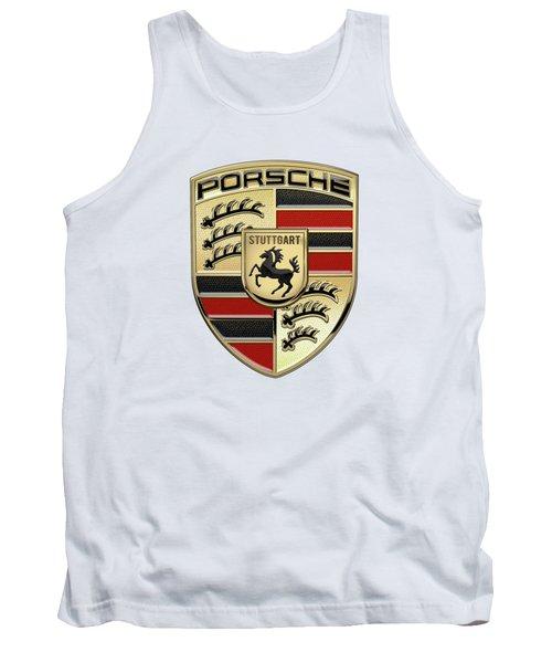 Porsche 3 D Badge Special Edition On White Tank Top