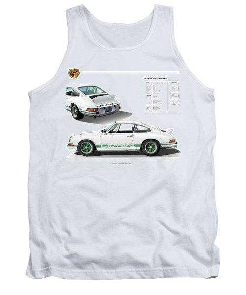 Porsche 911 Carrera Rs Illustration Tank Top by Alain Jamar