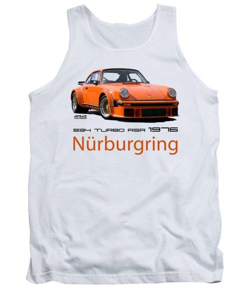 Porsche Carrera Rsr Nurburgring German Retro Sports Car Tank Top