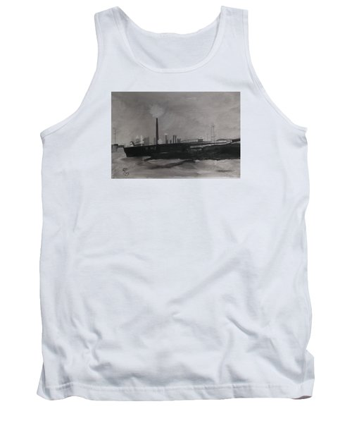 Port Talbot Steel Works Tank Top by Carole Robins