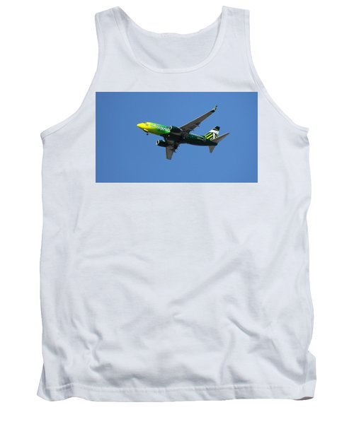 Tank Top featuring the photograph Portland Timbers - Alaska Airlines N607as by Aaron Berg
