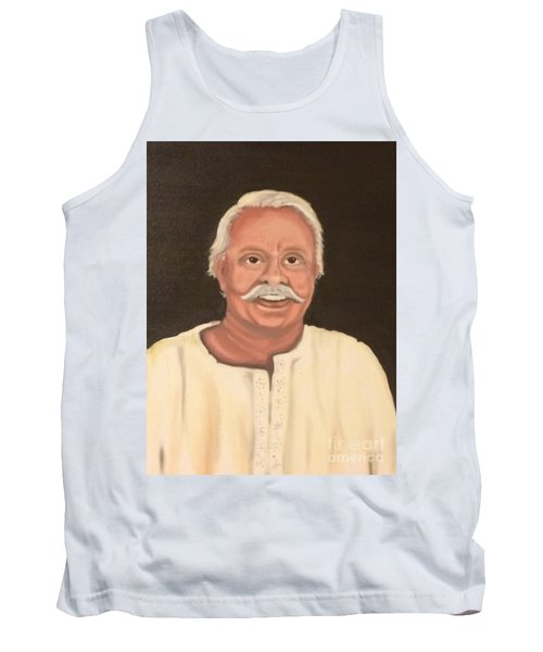 Tank Top featuring the painting Portrait 2 by Brindha Naveen
