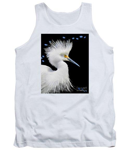 Portrait Of A Snowy White Egret Tank Top