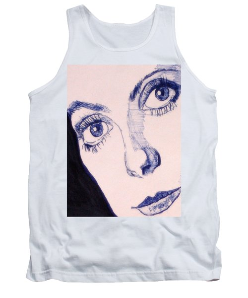 Portrait Of Catherine Close Up Details Tank Top