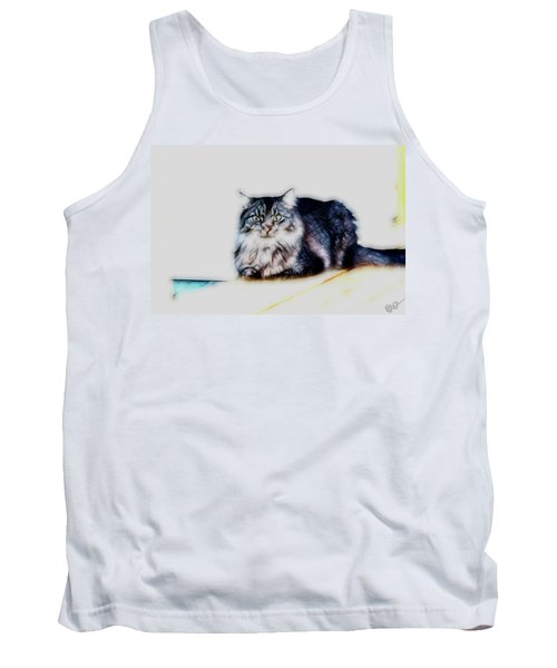 Portrait Of Maine Coon, Mattie Tank Top