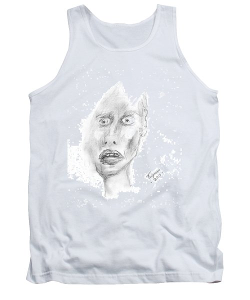 Portrait With Mechanical Pencil Tank Top