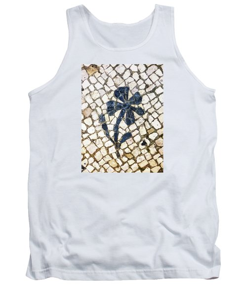 Portuguese Pavement With A Flower Detail Tank Top