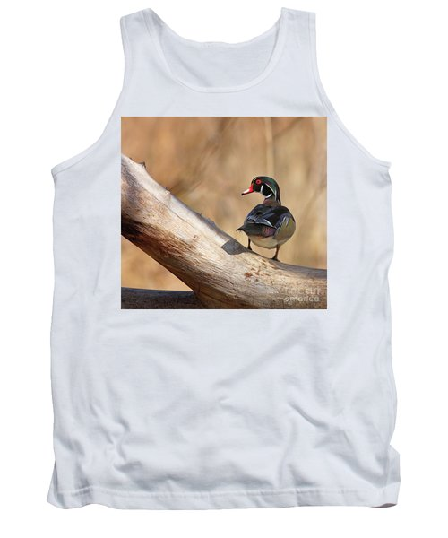 Posing Wood Duck Tank Top