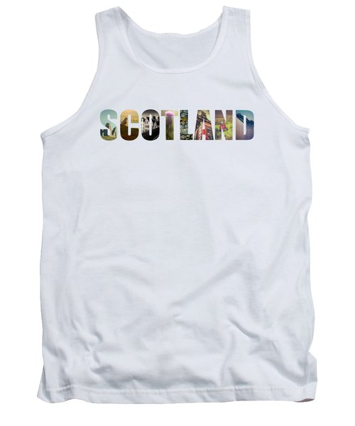 Postcard For Scotland Tank Top by Mr Doomits