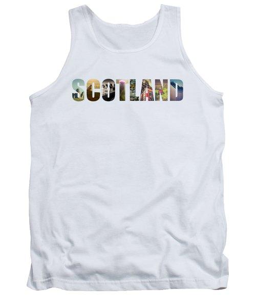 Postcard For Scotland Tank Top