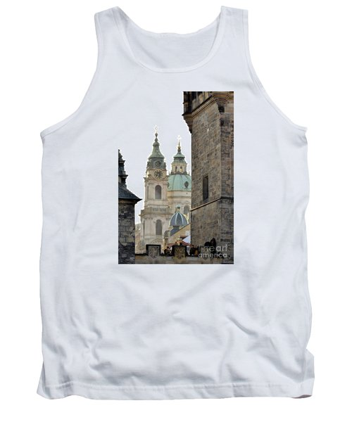 Tank Top featuring the digital art Prague-architecture 3 by Leo Symon