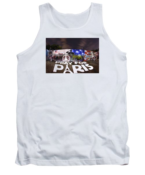 Pray For Paris Tank Top by Andrew Nourse