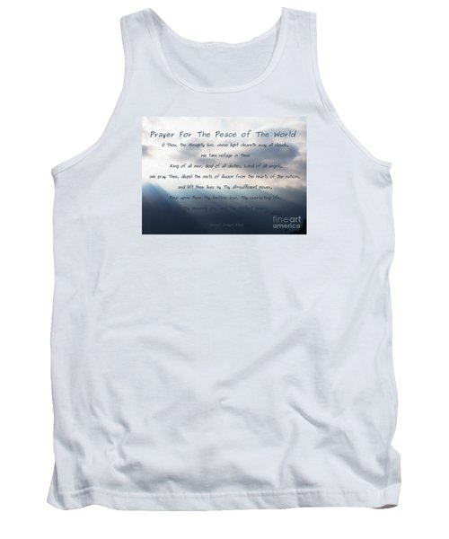 Prayer For The Peace Of The World Tank Top by Agnieszka Ledwon