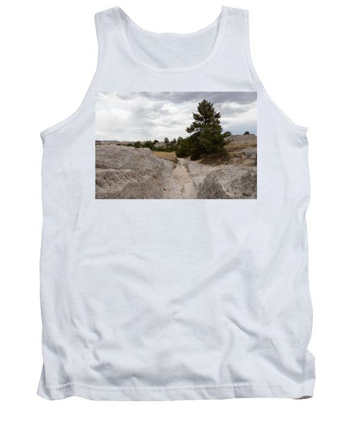 Preserved Wagon Ruts Of The Oregon Trail On The North Platte River Tank Top by Carol M Highsmith