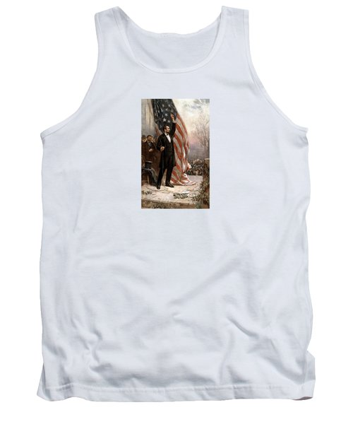 President Abraham Lincoln Giving A Speech Tank Top