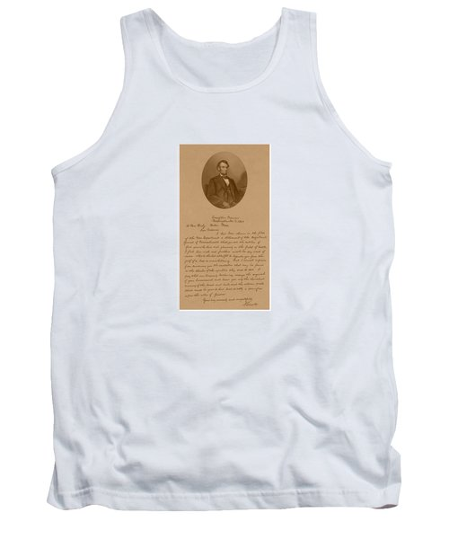 President Lincoln's Letter To Mrs. Bixby Tank Top
