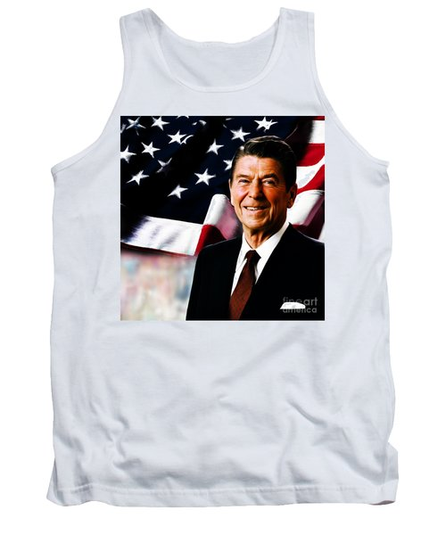 President Ronald Reagan Tank Top by Gull G