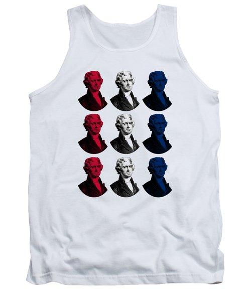 President Thomas Jefferson - Red, White, And Blue Tank Top