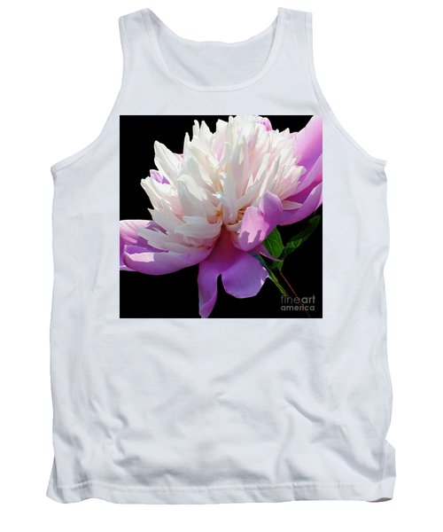 Pretty Pink Peony Flower Wall Art Tank Top