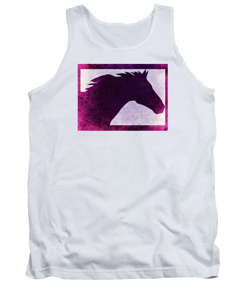 Pretty Purple Horse  Tank Top