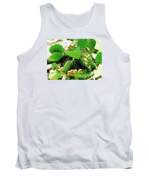 Tank Top featuring the photograph Prickly Pear Cactus Fruit by Merton Allen