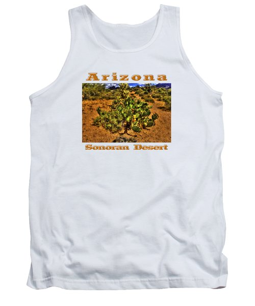 Prickly Pear In Bloom With Brittlebush And Cholla For Company Tank Top by Roger Passman