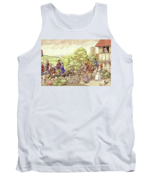 Prince Edward Riding From Ludlow To London Tank Top by Pat Nicolle