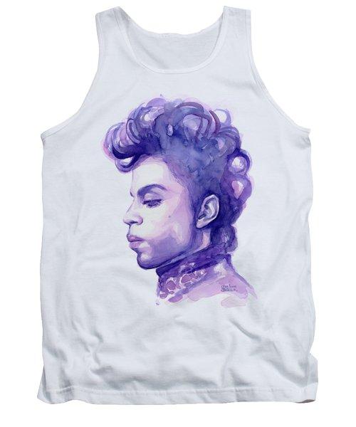 Prince Musician Watercolor Portrait Tank Top