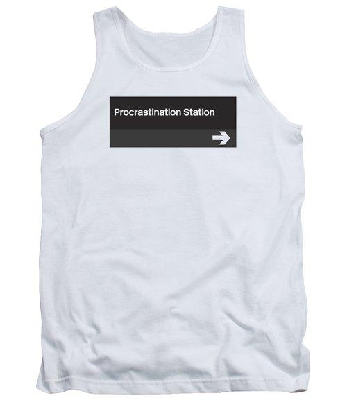 Procrastination Station- Art By Linda Woods Tank Top