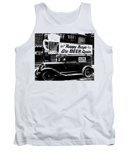 Prohibition Happy Days Are Beer Again Tank Top