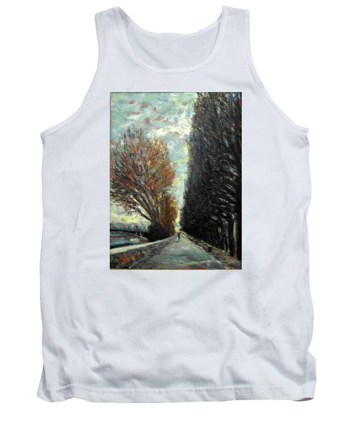 Tank Top featuring the painting Promenade by Walter Casaravilla