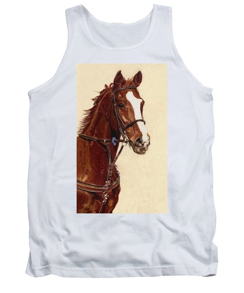 Proud - Portrait Of A Thoroughbred Horse Tank Top by Patricia Barmatz