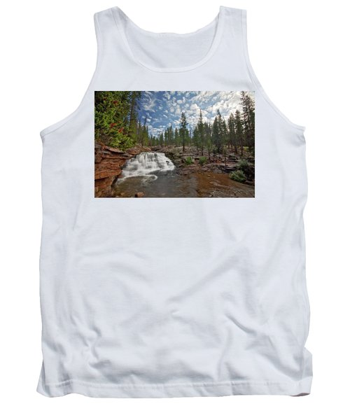 Tank Top featuring the photograph Provo River Falls by Wesley Aston