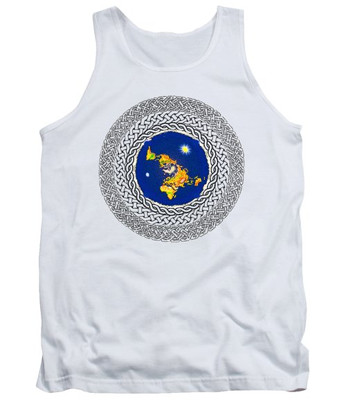 Psalm 37 Flat Earth Tank Top