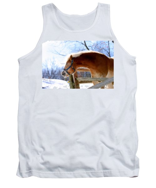 Tank Top featuring the photograph Pssssssh.....it's Not Cold by Angela Rath