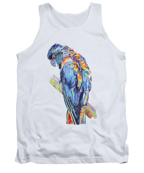 Psychedelic Parrot Tank Top by Lorraine Kelly