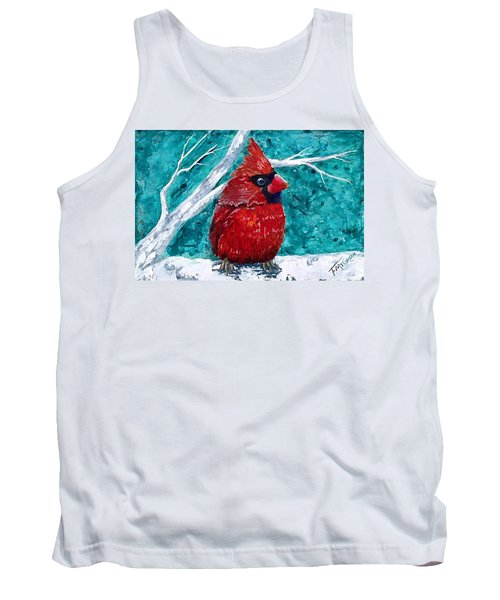 Pudgy Cardinal Tank Top by T Fry-Green