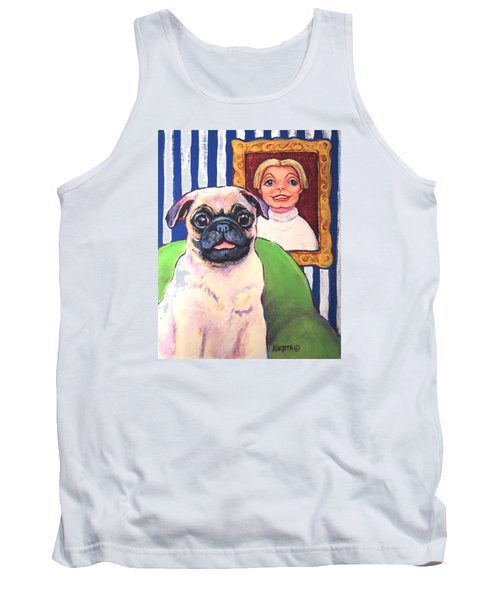 Pug - Beth Ann And Butch Tank Top by Rebecca Korpita