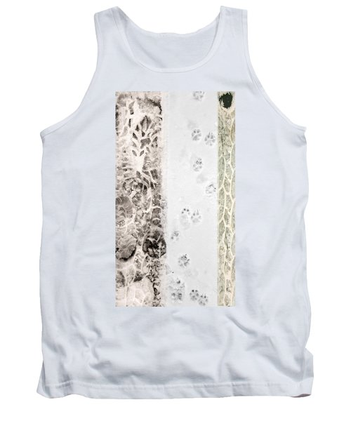 Puppy Prints In The Snow Tank Top