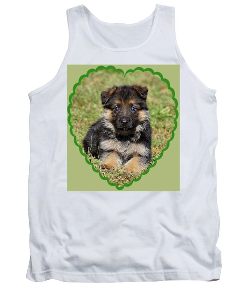 Tank Top featuring the photograph Puppy In Heart by Sandy Keeton