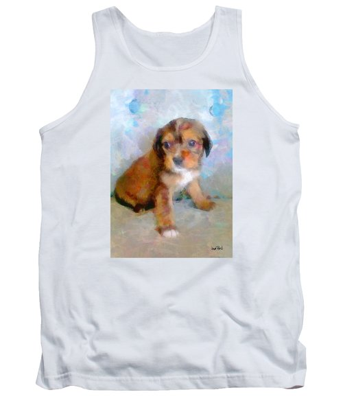 Puppy Love Tank Top by Wayne Pascall