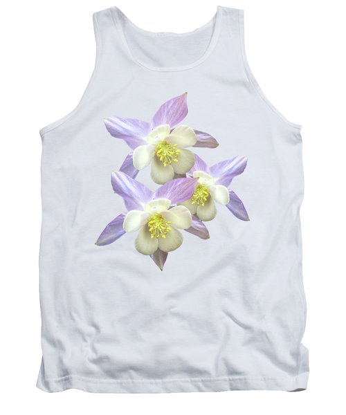 Tank Top featuring the photograph Purple Aquilegia by Gill Billington