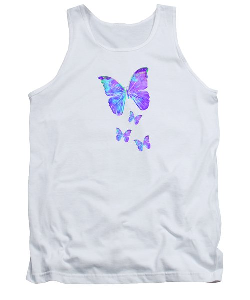 Purple Butterflies By Jan Marvin Tank Top