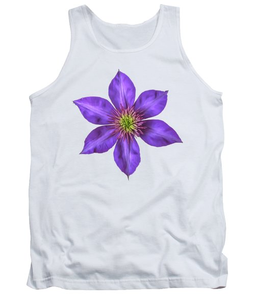 Purple Clematis Flower With Soft Look Effect Tank Top by Rose Santuci-Sofranko